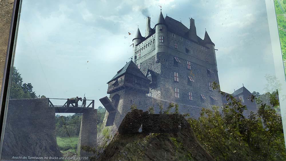 Rekonstruktion der Burg