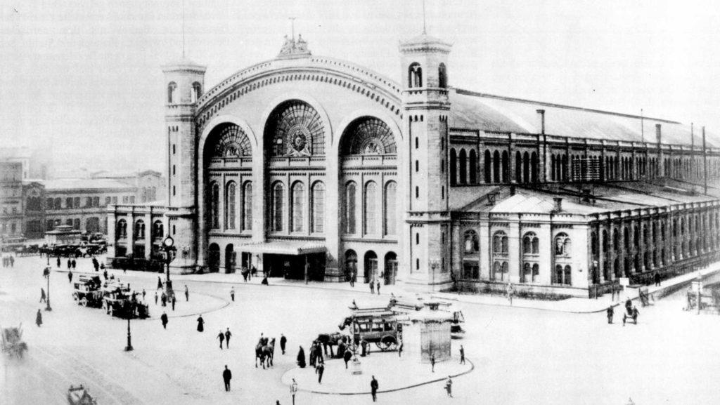 Der Stettiner Bahnhof auf einer Aufnahme vermutlich aus dem Jahr 1875