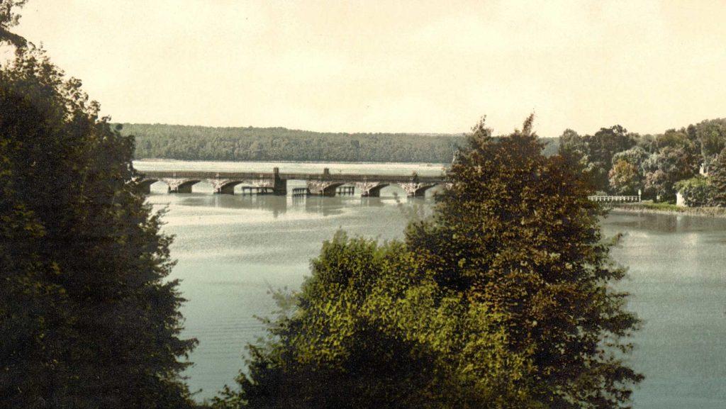 Die alte Gliniecker Brücke um das Jahr 1900