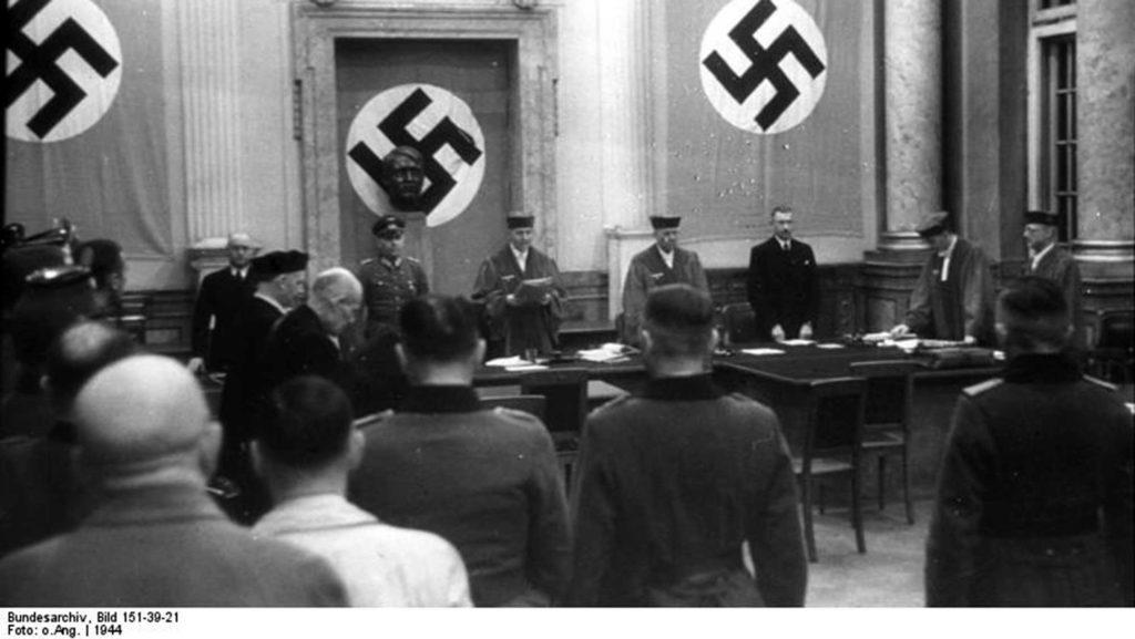 Das Foto zeigt den Volksgerichtshof im Jahr 1944.