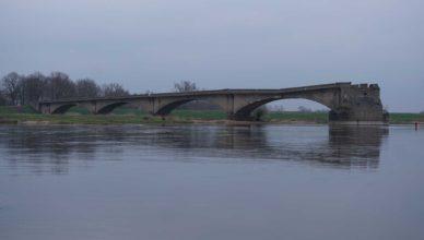 Oderbrücke Fürstenberg gesprengt Brücke Oder