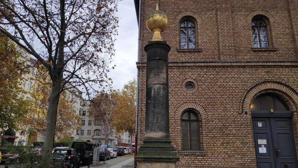 1 Meile von Berlin, Preußische Meiel am Schloss Charlottenburg