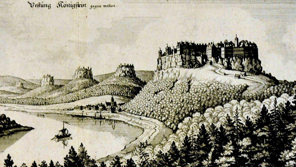 Die Festung Königstein um das Jahr 1650