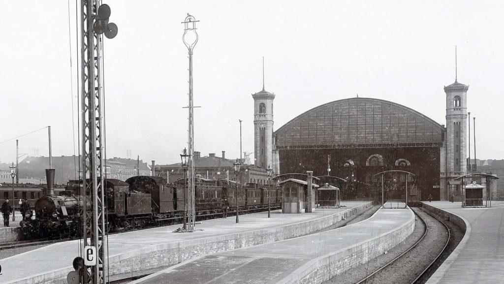 Stettiner Bahnhof - Nordbahnhof - Die Haupthalle im Jahr 1902