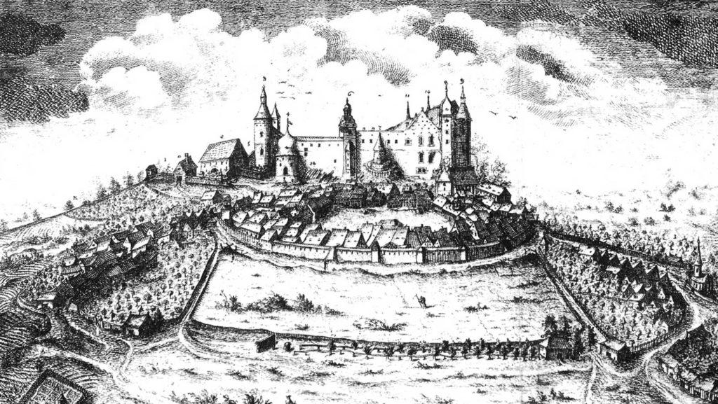 Die Burg Stolpen auf einem Bild von C. G. Nestler