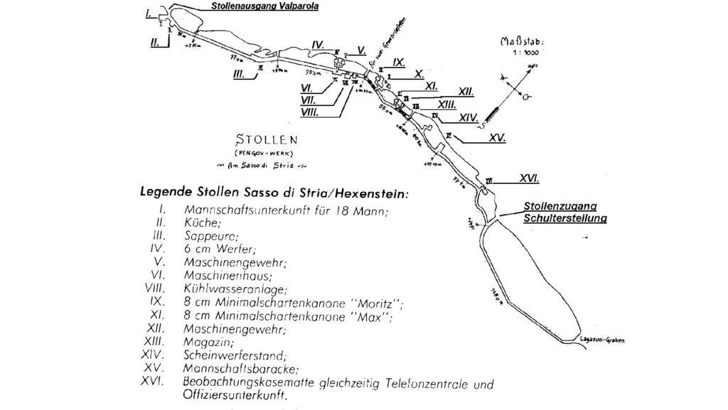 Skizze des Goiginger-Stollens