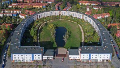 Hufeisensiedlung Luftbild Berlin Britz