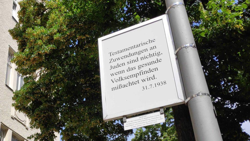 """""""Orte des Erinnerns"""" Schöneberg Berlin Holocaust"""