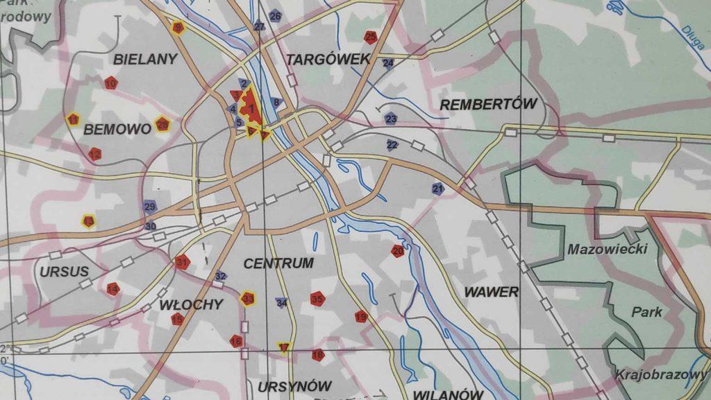 ge Festungsgürtel in und um der Stadt Warschau  (Foto: Infotafel)