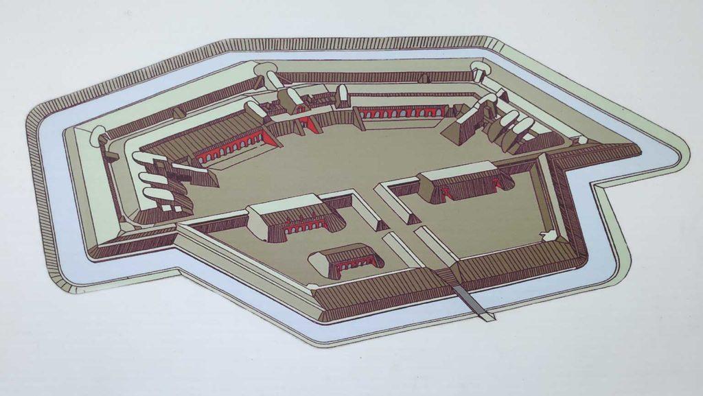 So sah das Fort einst aus  (Foto: Infotafel)